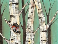 Birch Grove on Teal I by Jade Reynolds - various sizes