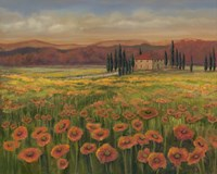 Poppy Path to Home I Fine Art Print
