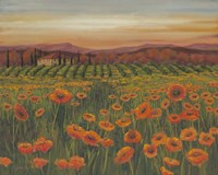 Poppy Path to Home II Fine Art Print