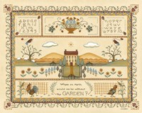 Garden Sampler I by Wendy Russell - various sizes, FulcrumGallery.com brand