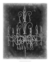 Chalkboard Chandelier Sketch II Fine Art Print