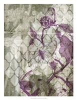 Arabesque Butterflies IV Framed Print
