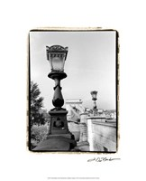 "Chain Bridge over the Danube River by Laura Denardo - 17"" x 21"""