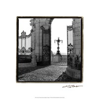 "Gates to the Royal Palace, Budapest by Laura Denardo - 18"" x 18"""