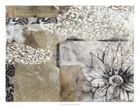 Collage Fleur II Framed Print