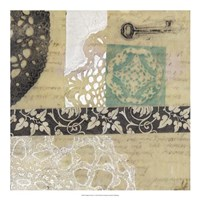 """Filigree & Key I by Jennifer Goldberger - 20"""" x 20"""""""