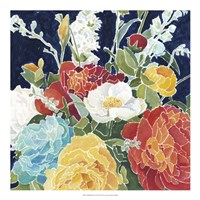 """Midnight Florals I by Megan Meagher - 20"""" x 20"""""""