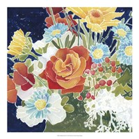 """Midnight Florals IV by Megan Meagher - 20"""" x 20"""""""