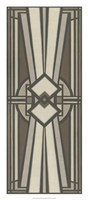 """Neutral Deco Panel I by June Erica Vess - 14"""" x 32"""""""