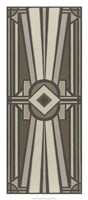 Neutral Deco Panel II Fine Art Print