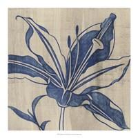 """Indigo Lily by Chariklia Zarris - 18"""" x 18"""""""