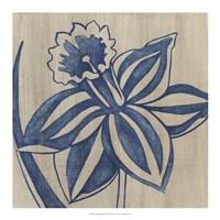 """Indigo Daffodil by Chariklia Zarris - 18"""" x 18"""""""