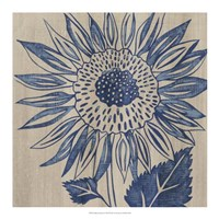 "Indigo Sunflower by Chariklia Zarris - 18"" x 18"""