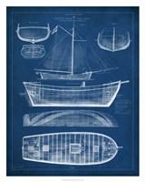 "Antique Ship Blueprint II by Vision Studio - 24"" x 30"""