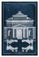 Palace Facade Blueprint II Fine Art Print