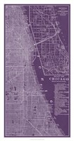 Graphic Map of Chicago Fine Art Print