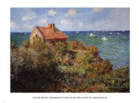 Fisherman's Cottage by Claude Monet - various sizes