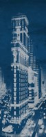 Times Square Postcard Blueprint Panel Fine Art Print