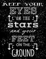 Keep Your Eyes On the Stars - black by Veruca Salt - various sizes