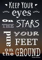 Keep Your Eyes On the Stars- Theodore Roosevelt by Veruca Salt - various sizes, FulcrumGallery.com brand