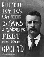 Keep Your Eyes On the Stars and Your Feet On the Ground - Theodore Roosevelt by Veruca Salt - various sizes