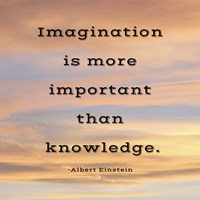 Imagination quote Fine Art Print