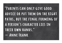 A Person's Character Lies in Their Own Hands -Anne Frank by Veruca Salt - various sizes