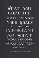 Achieving Your Goals Fine Art Print