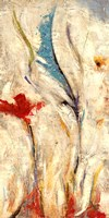 """Flores I by Nancy Villarreal Santos - 12"""" x 24"""""""