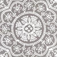 "Woodblock Pattern I by Sabine Berg - 12"" x 12"""