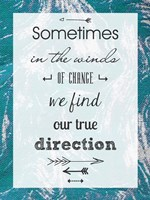 Sometimes in the Winds of Change We Find Our True Direction by Veruca Salt - various sizes
