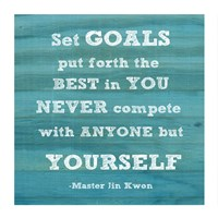 Set Goals square Fine Art Print