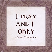 I Pray and I Obey by Veruca Salt - various sizes