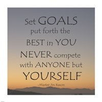 Set Goals Fine Art Print