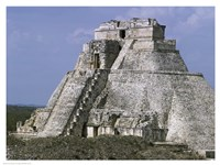 Mayan Pyramid of the Magician Uxmal Fine Art Print