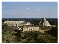 Pyramid of the Magician, Nunnery Quadrangle, Uxmal Fine Art Print