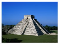High angle view of a pyramid, El Castillo Fine Art Print