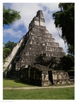 Facade of the Temple of the Great Jaguar, Tikal Framed Print