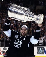 Anze Kopitar with the Stanley Cup Game 5 of the 2014 Stanley Cup Finals Fine Art Print