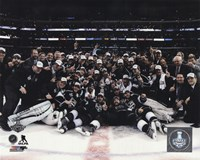 The Los Angeles Kings Celebration on ice Game 5 of the 2014 Stanley Cup Finals Action Fine Art Print