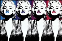 Marilyn Monroe - Color Lips Wall Poster