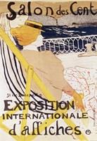 Poster advertising the 'Exposition Internationale d'Affiches', Paris, c.1896 Fine Art Print