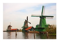 Dutch Zaanse Schans Windmills photograph Fine Art Print