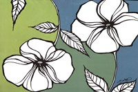 """Flowers in Unity - Teal by David Bromstad - 36"""" x 24"""""""