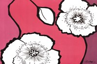 """Flowers in Unity - Pink by David Bromstad - 36"""" x 24"""""""