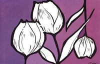 "Flowers in Unity - Purple by David Bromstad - 36"" x 24"""