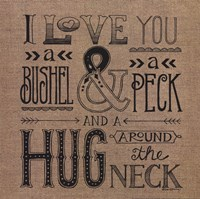 Hug Around the Neck Fine Art Print