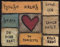 """House Rules by Lisa Larson - 20"""" x 16"""""""