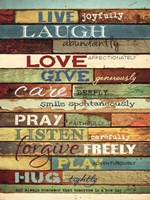 Live Joyfully Fine Art Print