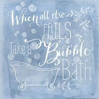 Take a Bubble Bath Framed Print